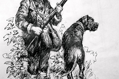 'The Game-keeper and his dog' 1890.