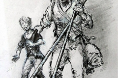 'The Chimney-sweep and his boy' 1850.