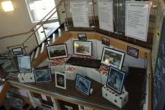 Peter Archer's work on display Brixham Library 'The Edge Space'