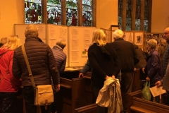 St Mary's Church project exhibition.