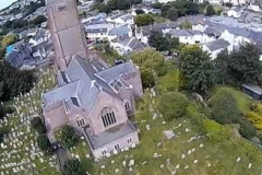 St Mary's Church Higher Brixham from above.