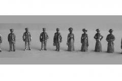 Late Victorian figures used by model maker Paul Bennett.