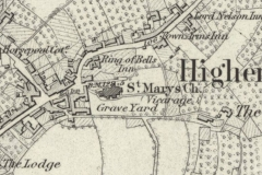 Early map of St Mary's and 'Cowtown'.