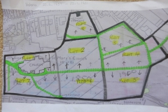 First attempt of re-plotting St Mary's grave yard.