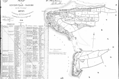 Early map of Kingswear on the edge of St Mary's Parish.