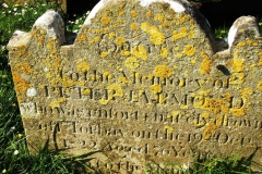 Example of typical headstone script in St Mary's Church Yard.